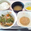 2月28日朝食(ハムと野菜の炒め物) #病院食