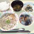 Photos: 2月28日夕食(豚肉の柳川風) #病院食