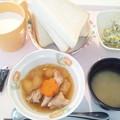 3月1日朝食(鶏肉と冬瓜の煮物) #病院食