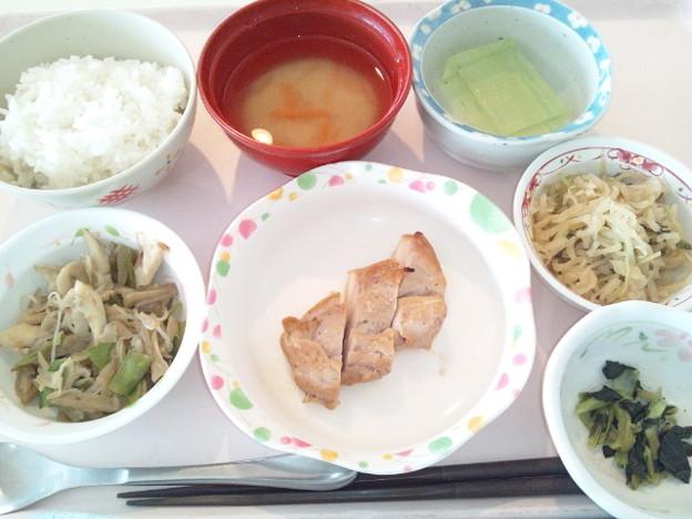 3月2日昼食(鶏の梅焼き) #病院食