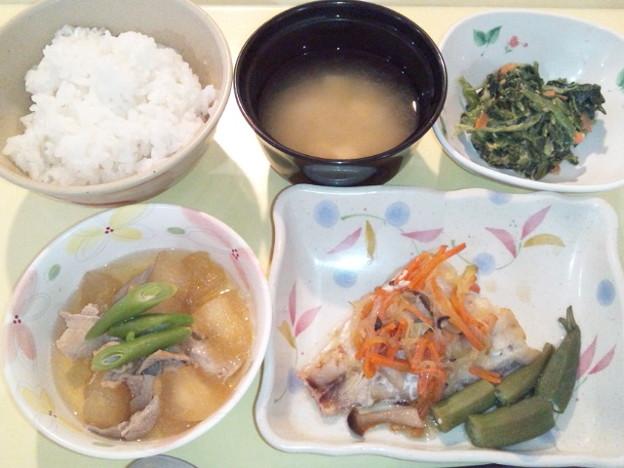 3月2日夕食(赤魚の香り蒸し) #病院食