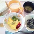 3月3日朝食(スクランブルエッグ) #病院食