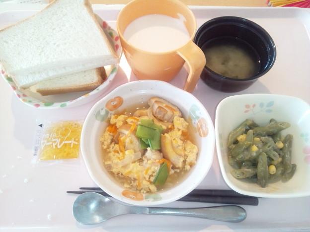 3月4日朝食(車麩の玉子とじ) #病院食