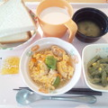 Photos: 3月4日朝食(車麩の玉子とじ) #病院食