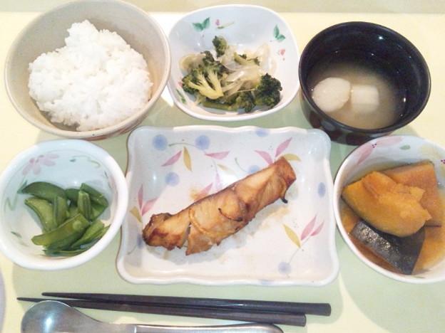 3月4日夕食(すずきの幽庵焼き) #病院食