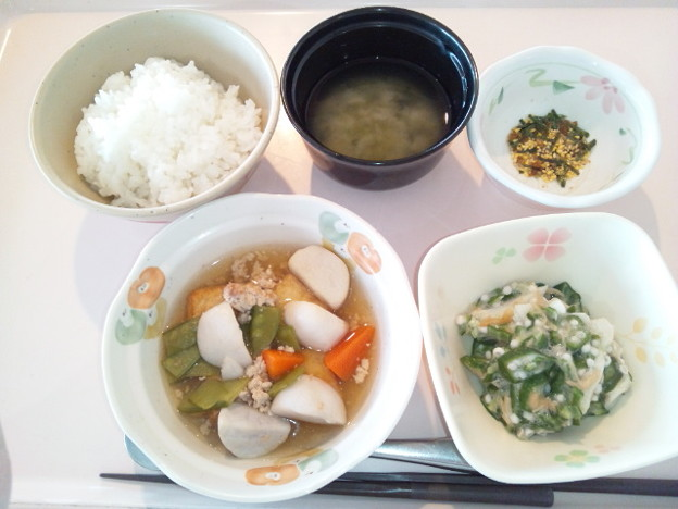 Photos: 3月5日朝食(厚揚げの煮物) #病院食