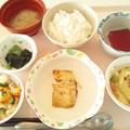 3月5日昼食(鯖の味噌マヨネーズ焼き) #病院食