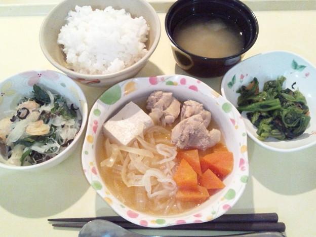 3月5日夕食(鶏のすき煮) #病院食