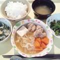 Photos: 3月5日夕食(鶏のすき煮) #病院食