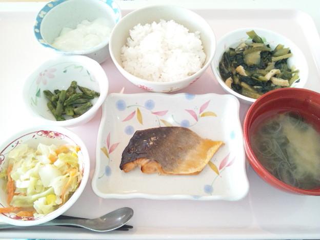 Photos: 3月6日昼食(鮭の照り焼き) #病院食