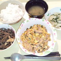 Photos: 3月6日夕食(豚キムチ) #病院食