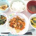 3月7日昼食(鶏肉のケチャップ炒め) #病院食
