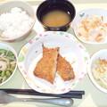 3月8日夕食(アジフライ) #病院食