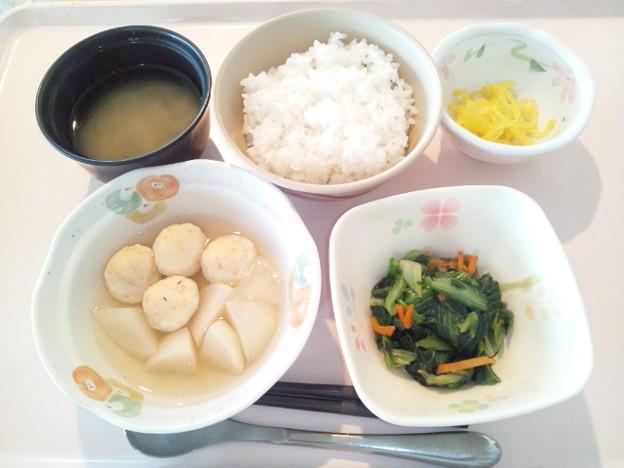 3月9日朝食(しんじょの煮物) #病院食