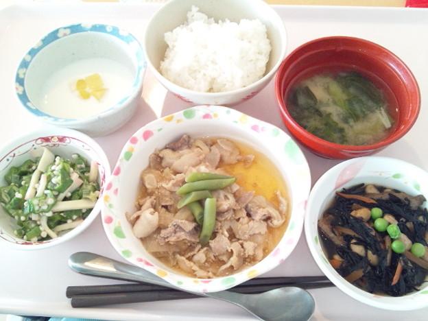 3月9日昼食(豚肉のみぞれ煮) #病院食
