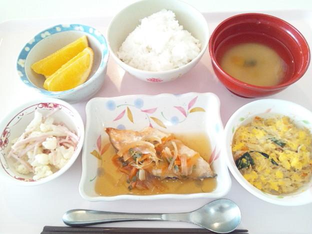 3月17日昼食(鮭の焼き南蛮漬け) #病院食