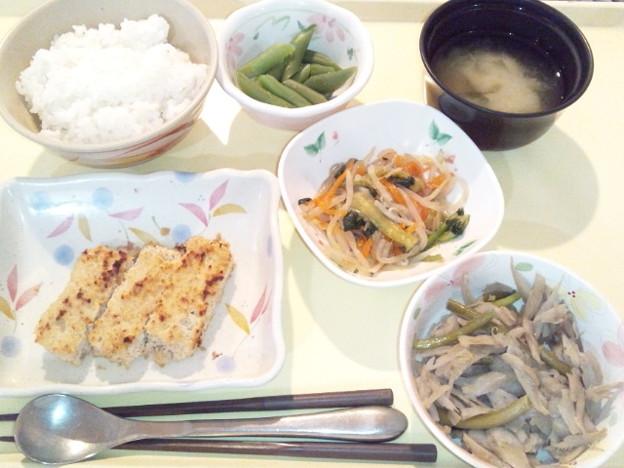 3月17日夕食(松風焼き) #病院食