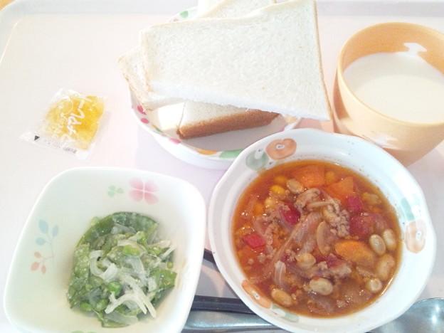 3月18日朝食(チリコンカン) #病院食