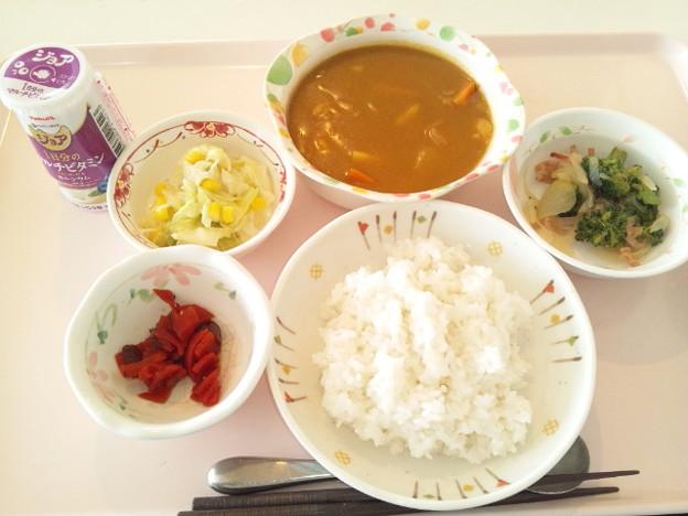 3月18日昼食(シーフードカレー) #病院食
