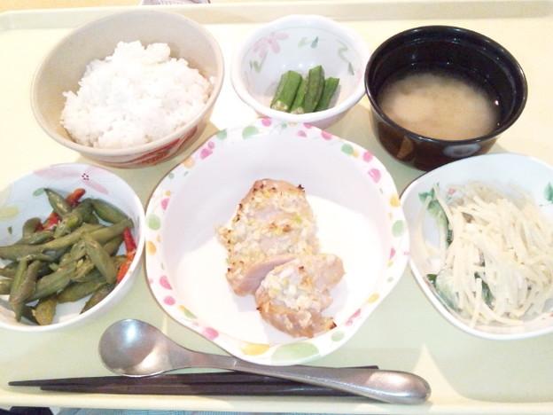 3月18日夕食(鶏の塩麹焼き) #病院食