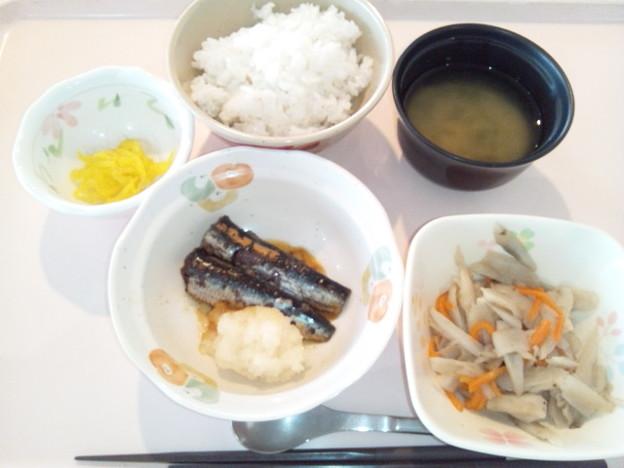 3月19日朝食(鰯の生姜煮) #病院食