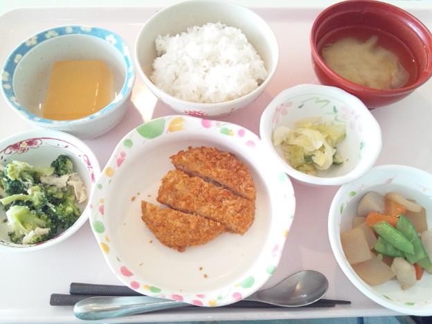3月19日昼食(とんかつ) #病院食