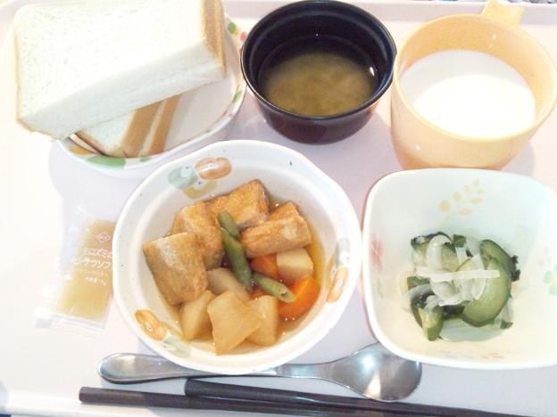 3月20日朝食(肉詰めいなりの煮物) #病院食