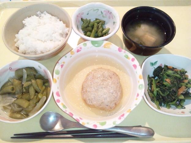 3月20日夕食(和風ハンバーグ) #病院食