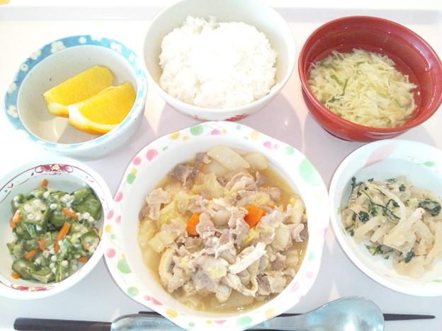 3月21日昼食(豚肉と白菜のにんにく味噌煮) #病院食