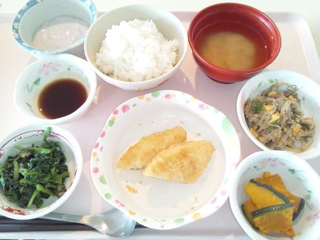 3月22日昼食(白身魚フライ) #病院食
