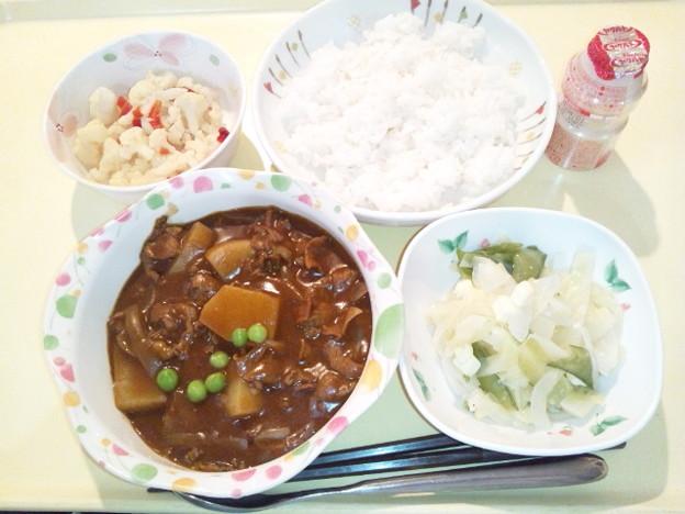 3月23日夕食(ビーフハヤシライス) #病院食