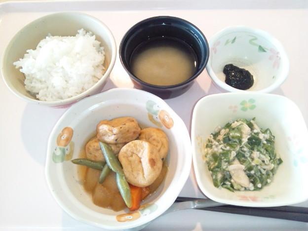 3月28日朝食(がんもの煮物) #病院食