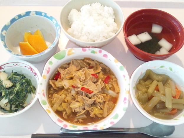 3月28日昼食(豚肉の味噌炒め) #病院食