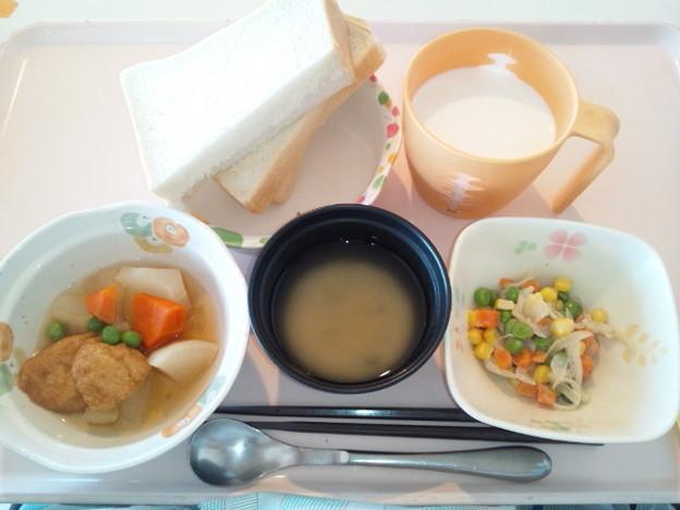 3月29日朝食(魚河岸揚げの煮物) #病院食