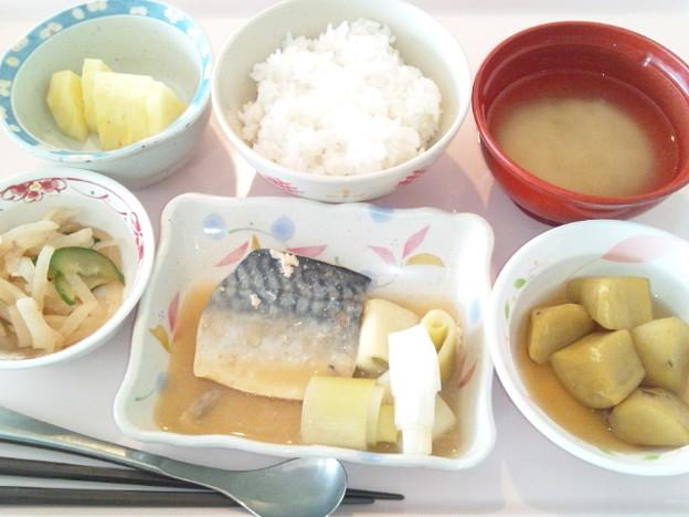 3月30日昼食(鯖の味噌煮) #病院食