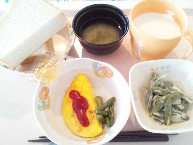 3月31日朝食(オムレツ) #病院食