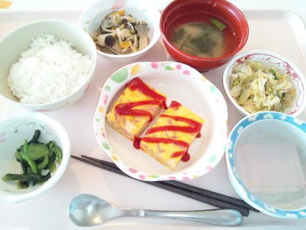 4月3日昼食(スペイン風オムレツ) #病院食