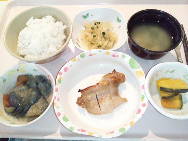 4月3日夕食(鶏のポン酢焼き) #病院食