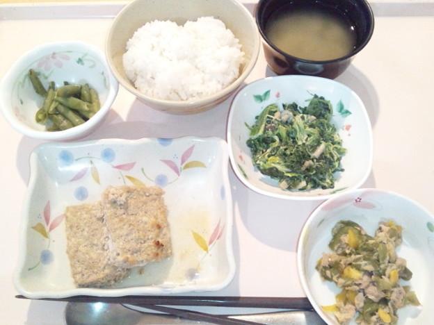 4月5日夕食(松風焼き) #病院食