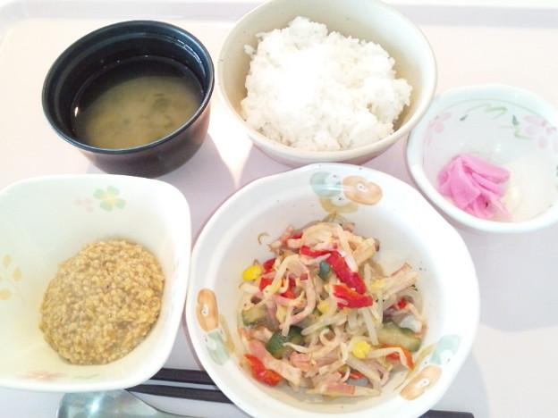 4月6日朝食(野菜とベーコンのソテー) #病院食