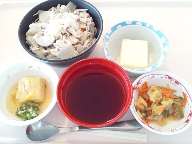 4月6日昼食(けんちんそば) #病院食