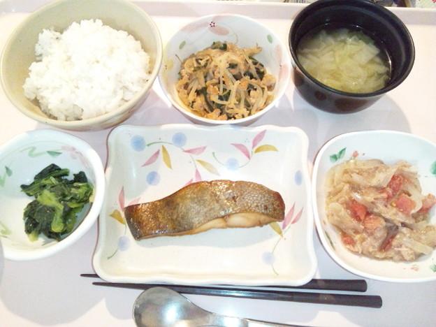4月7日夕食(めだいの蒲焼き) #病院食