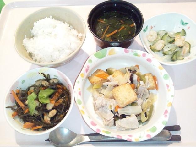 4月8日夕食(家常豆腐) #病院食