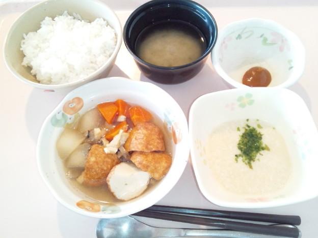 4月9日朝食(魚河岸揚げと冬瓜の煮物) #病院食