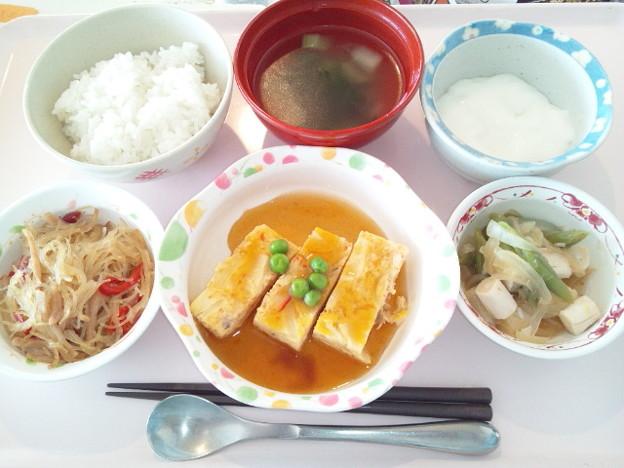 4月9日昼食(カニ玉風) #病院食