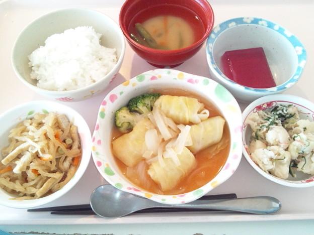 4月10日昼食(ロールキャベツ) #病院食