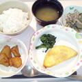 4月10日夕食(プレーンオムレツ) #病院食