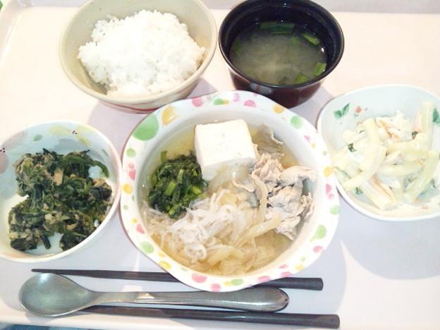 4月11日夕食(肉豆腐) #病院食