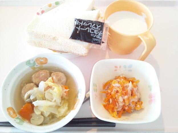 4月12日朝食(肉団子のポトフ) #病院食