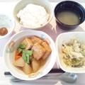4月13日朝食(肉詰めいなりの煮物) #病院食